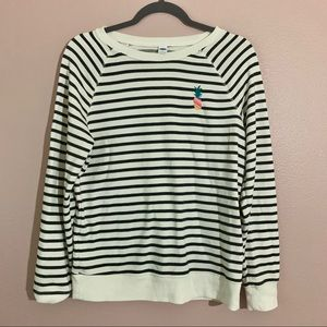 Old navy striped sweatshirt